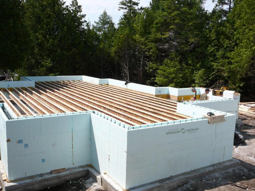 Building energy efficient homes icf port elgin for Nudura icf cost